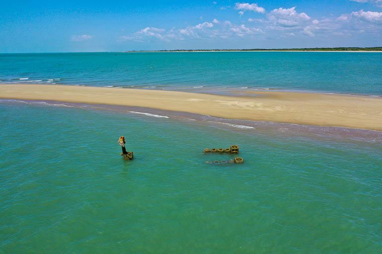 Shipwreck near Barra Grande