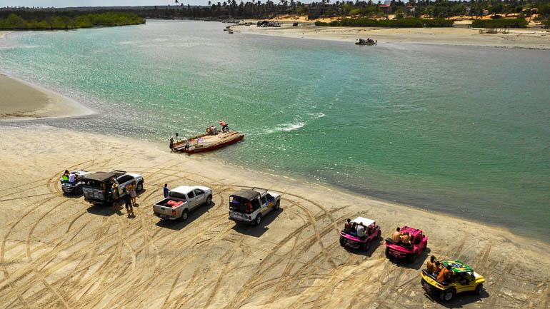 Car ferry near Jericoacoara
