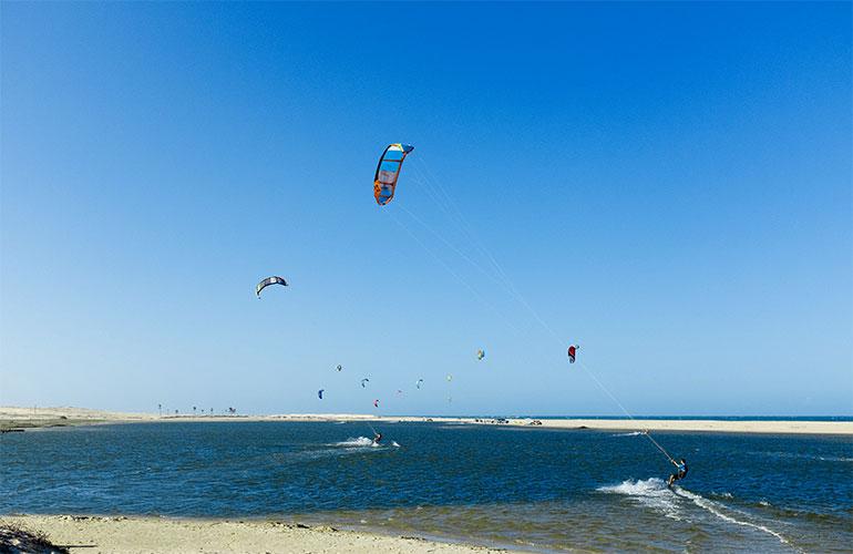Kitesurfen in der Lagoa Taiba