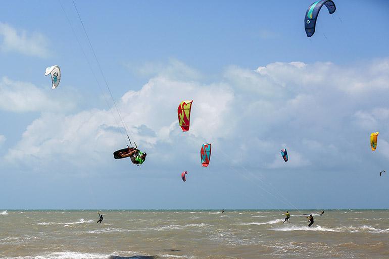 Des conditions parfaites pour le kitesurf