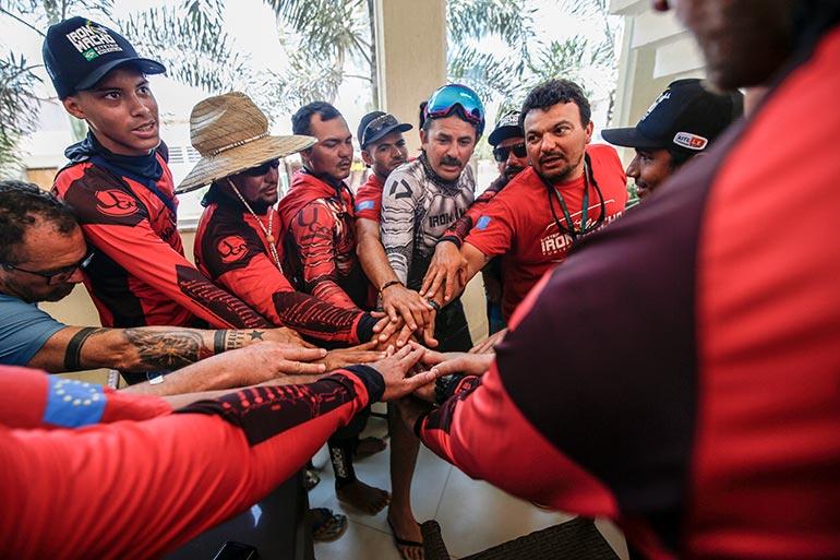 L'équipe du kite trip Iron Macho