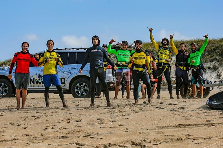 Participants du Iron Macho kite trip