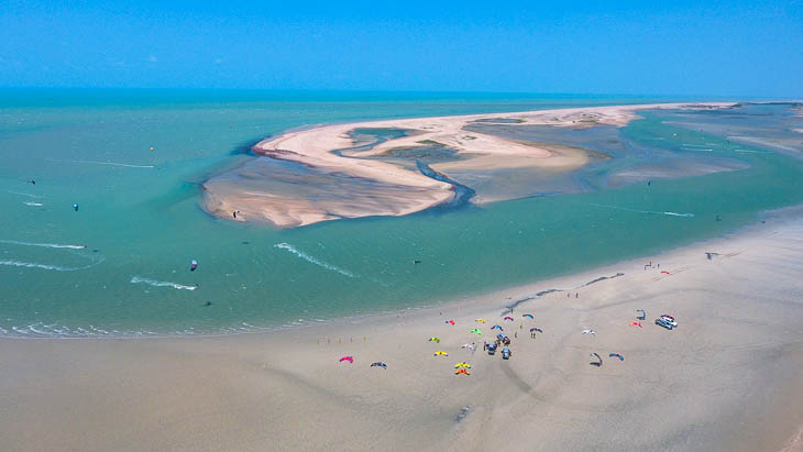 Brazil offers endless free space for kitesurfing