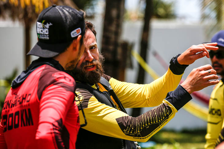 Kitesurfers like to talk with hands and feet when it comes to kiting