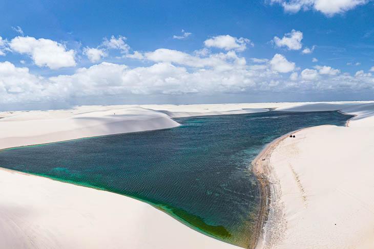Wunderschöne türkisgrüne Lagune