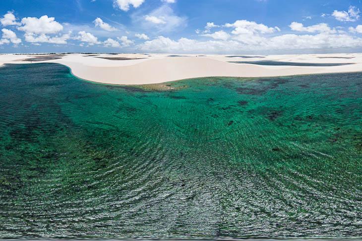 Türkisfarbenen Lagunen